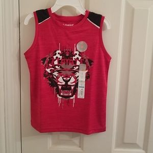 Red Fierce active tank top